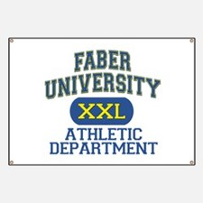 Faber University Athletic Department Banner