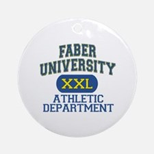 Faber University Athletic Department Ornament (Rou