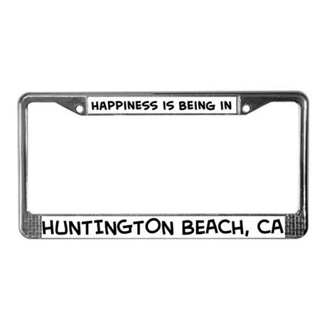 Happiness is Huntington Beach License Plate Frame