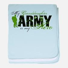 Granddaughter Hero3 - ARMY baby blanket