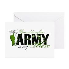 Granddaughter Hero3 - ARMY Greeting Cards (Pk of 1