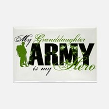 Granddaughter Hero3 - ARMY Rectangle Magnet