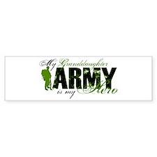Granddaughter Hero3 - ARMY Bumper Sticker