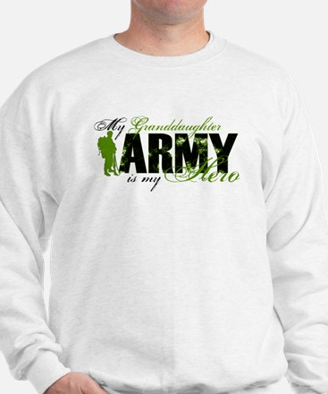 Granddaughter Hero3 - ARMY Sweatshirt