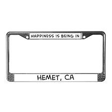 Happiness is Hemet License Plate Frame