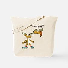 Santa Reindeer Tote Bag