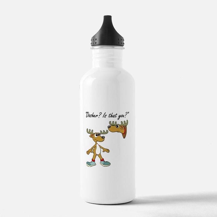 Santa Reindeer Water Bottle