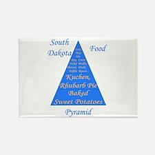 South Dakota Food Pyramid Rectangle Magnet
