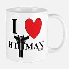 I Love HitMan Logo Mugs
