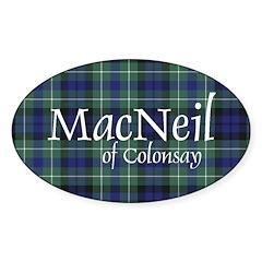 Tartan - MacNeil of Colonsay Sticker (Oval 50 pk)