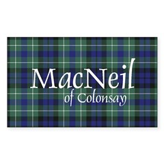Tartan - MacNeil of Colonsay Sticker (Rectangle)
