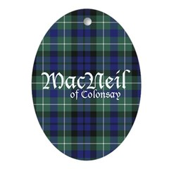 Tartan - MacNeil of Colonsay Ornament (Oval)
