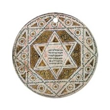 Ancient Magen David Ornament (Round)