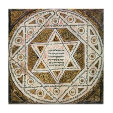 Ancient Magen David Tile Coaster