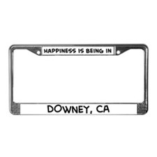 Happiness is Downey License Plate Frame