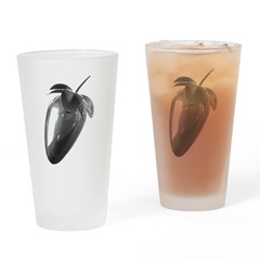 FL Logo Chrome Drinking Glass