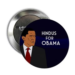Hindus for Obama campaign button