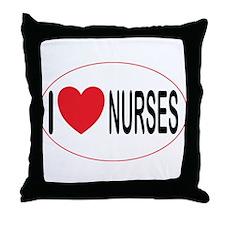 I Love Nurses Throw Pillow