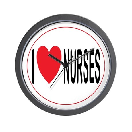 I Love Nurses Wall Clock