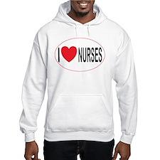 I Love Nurses Hoodie