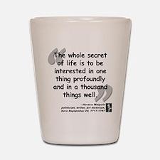 Walpole Secret Quote Shot Glass
