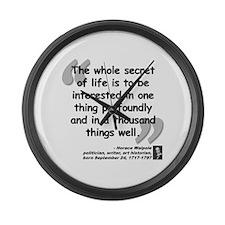 Walpole Secret Quote Large Wall Clock