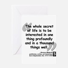 Walpole Secret Quote Greeting Card