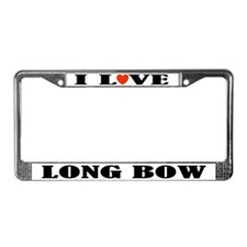 I Love Long Bow Archery License Plate Frame