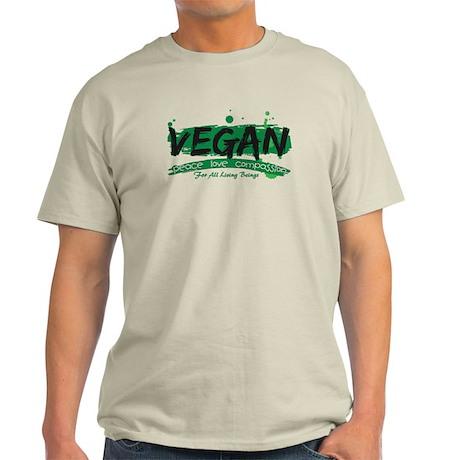 Vegan Peace Love Compassion Light T-Shirt