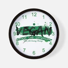 Vegan Peace Love Compassion Wall Clock