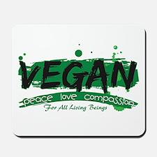 Vegan Peace Love Compassion Mousepad