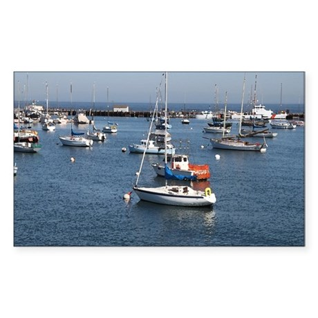 Monterey Fisherman's Wharf Sticker (Rectangle)