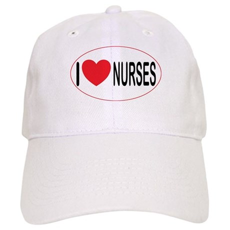 I Love Nurses Cap