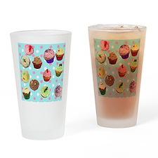 Polka Dot Cupcakes Drinking Glass
