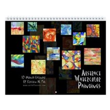 Abstract Watercolor Wall Calendar
