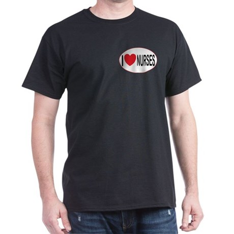I Love Nurses Black T-Shirt
