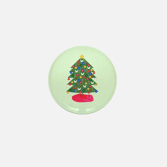Christmas Tree Mini Button