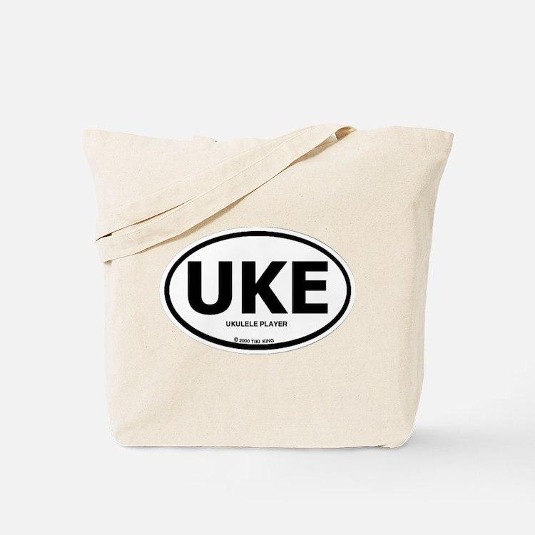 The Tiki King Uke (Ukulele Pl Tote Bag