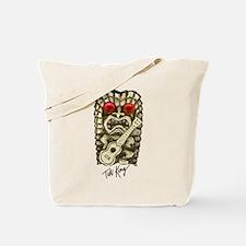 Ukulele Playing Tiki Tote Bag