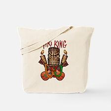 Tiki King Crossed Ukes logo Tote Bag