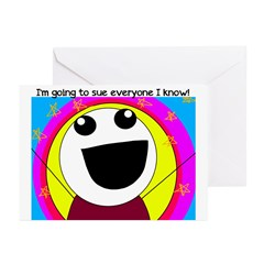 I'm Going to Sue Everyone! Greeting Cards (Pk of 1