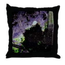 Nest, Egg, Kitty Surrealism Throw Pillow