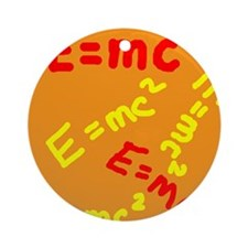 E=mc2 Ornament (Round)
