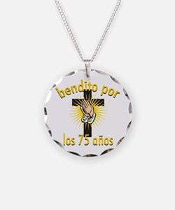 Blessed for 75 years Necklace