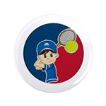 "Cute Tennis Boy 3.5"" Button"
