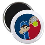 "Cute Tennis Boy 2.25"" Magnet (10 Pk)"