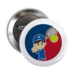 "Cute Tennis Boy 2.25"" Button (100 Pk)"