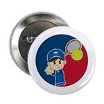 "Cute Tennis Boy 2.25"" Button"
