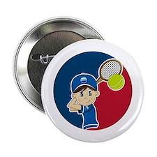 """Cute Tennis Boy 2.25"""" Button"""