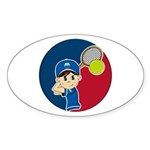 Cute Tennis Boy Sticker